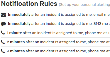 My notification rules